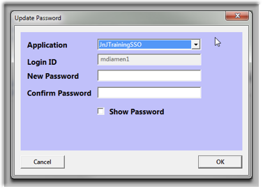 Biometric Password Update Control