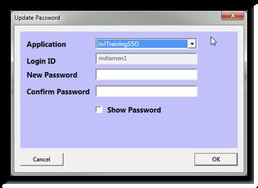 Biometric Password Update Control